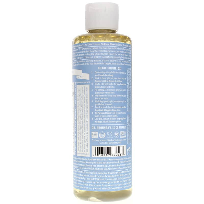 18-In-1 Hemp Pure Castile Soap, Dr  Bronners Magic Soaps