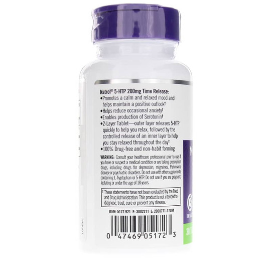 5-HTP 200 Mg Maximum Strength Time Release