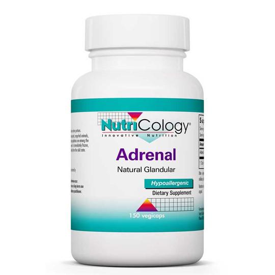 Adrenal Natural Glandular, 150 Veg Capsules, Nutricology