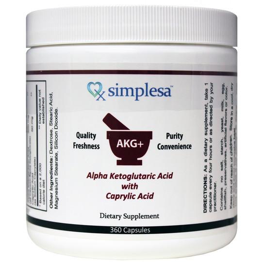 Alpha-Ketoglutaric Acid with Caprylic Acid