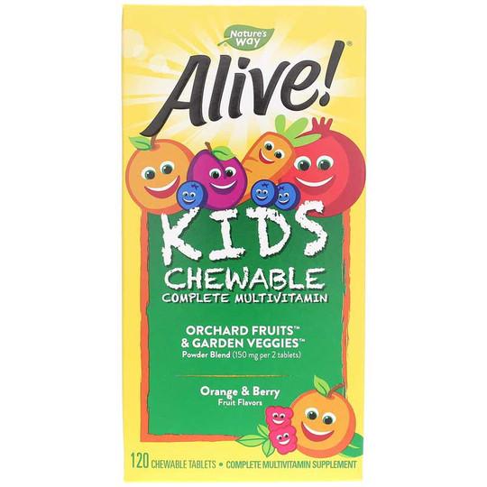 Alive Kids Chewable Complete Multivitamin