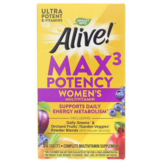 Alive Max3 Potency Womens Multivitamin
