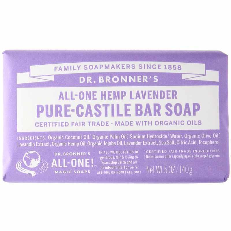 All one hemp pure castile bar soap drbm lavender,main,1