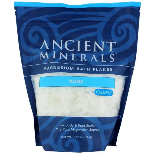 Ancient Minerals Magnesium Bath Flakes Ultra w/MSM