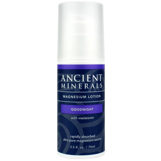 Ancient Minerals Magnesium Lotion Goodnight with Melatonin