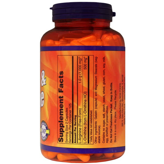 arginine-ornithine-NOW-250-cpsls