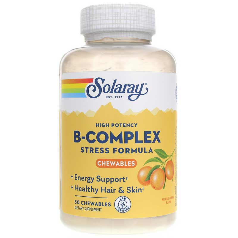 B-Complex Chewable, High Potency Formula Orange