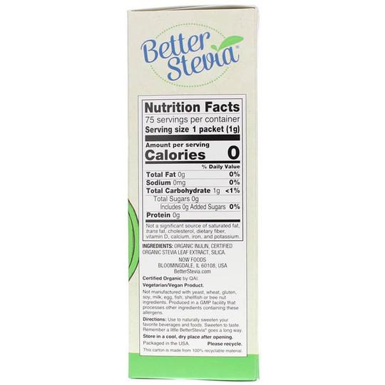 Better Stevia Organic Sweetener Packets