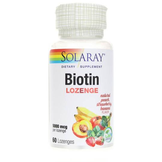 Biotin Lozenge 5000 Mcg Peach Strawberry Banana