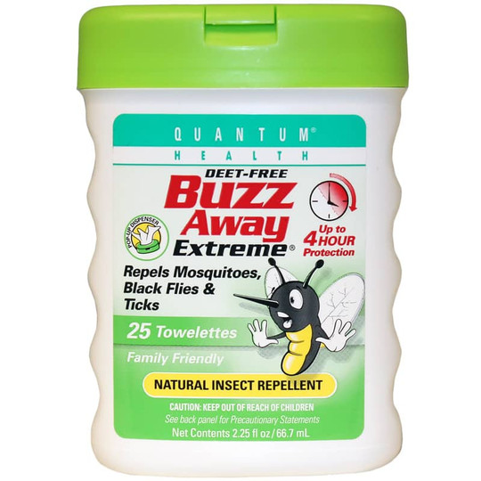 Buzz Away Extreme Natural Insect Repllent Deet-Free Towelettes