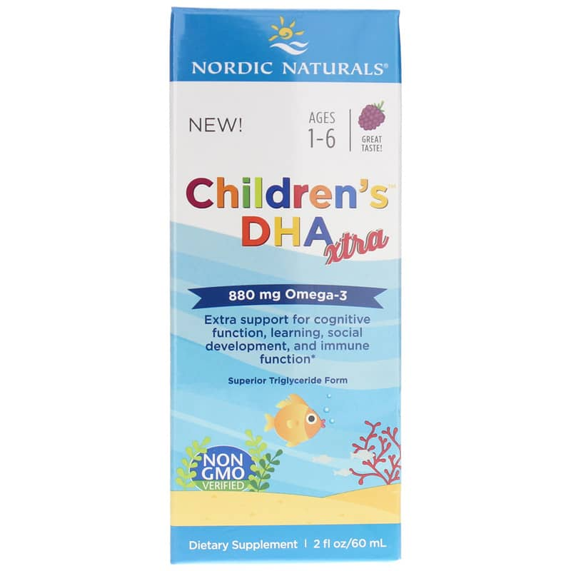 c56b46f8278f Children's DHA Xtra from Nordic naturals is ideal for children ages 1 to 6  who need extra support for cognitive function, learning, and social  development.