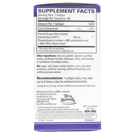 Clinical OPC Extra Strength French Grape Seed Extract