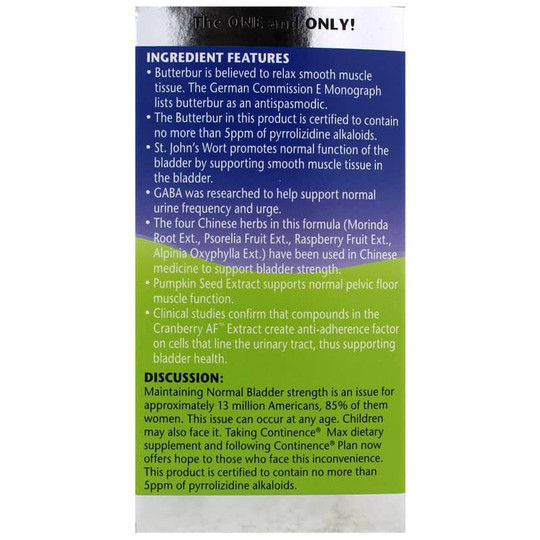 Continence Max with Flowtrol, Extra Strength Formula