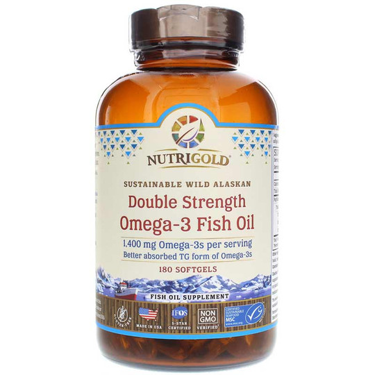Double Strength Omega-3 Fish Oil 1,400 Mg, NutriGold