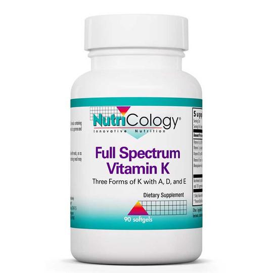 Full Spectrum Vitamin K, 90 Softgels, Nutricology