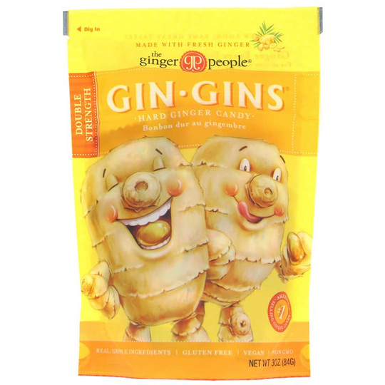 Gin Gins Hard Ginger Candy Double Strength