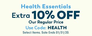Extra 10% Off Health Essentials Coupon
