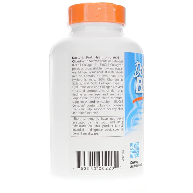Hyaluronic Acid + Chondroitin Sulfate 180 Capsules