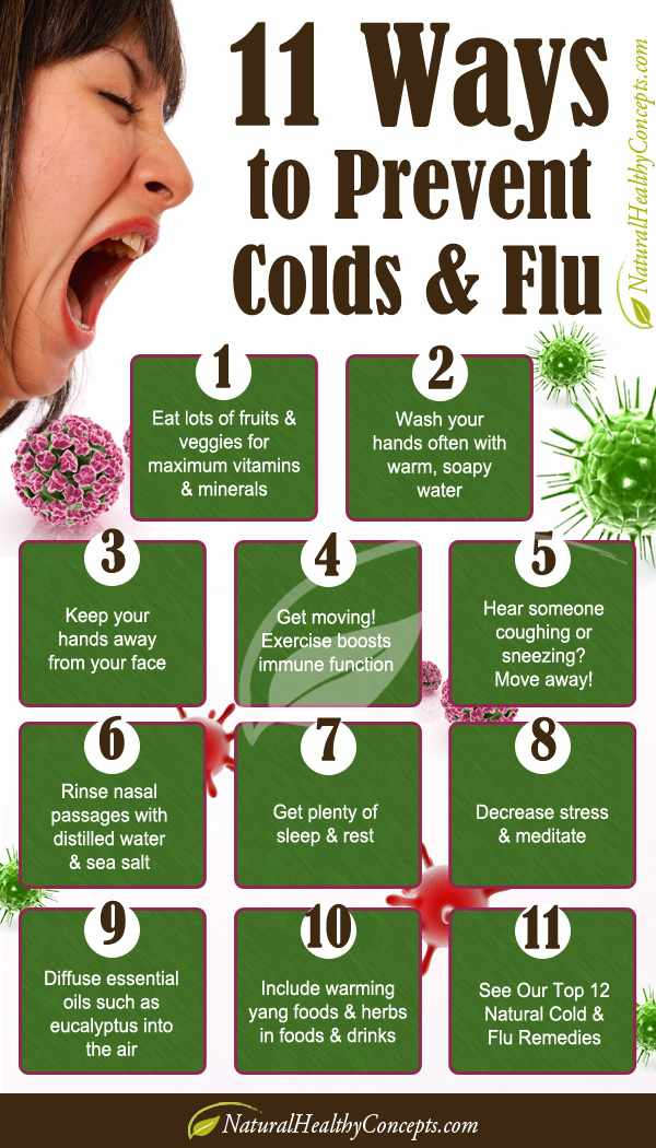 ways to prevent colds infographic