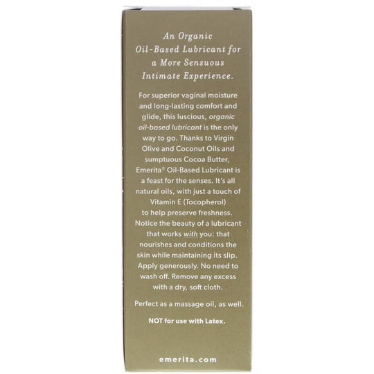 Intimate Lubricant Organic Oil-Based Fragrance Free