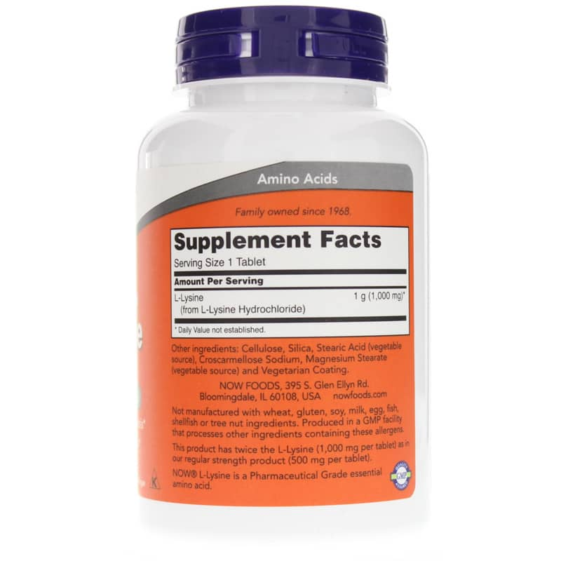 NOW Foods L-Lysine Tablets 1000 Mg Double Strength