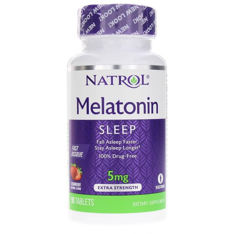 Melatonin 5 Mg Fast Dissolve Extra Strength, Natrol