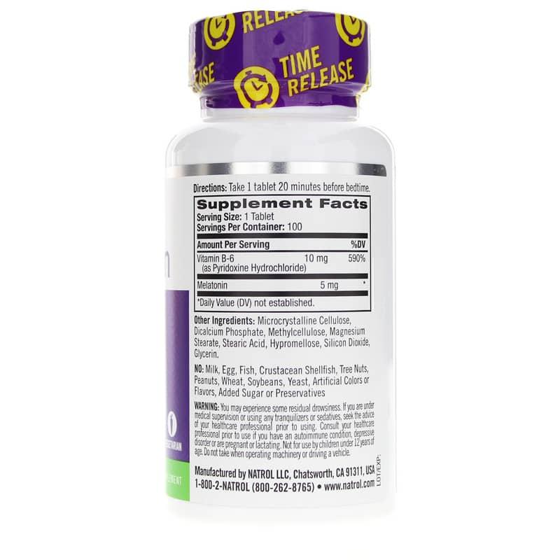 Melatonin 5 Mg Time Release Extra Strength, Natrol