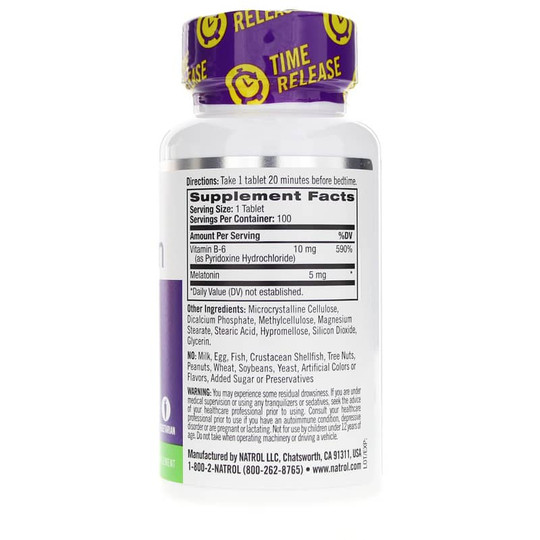 Melatonin 5 Mg Time Release Extra Strength