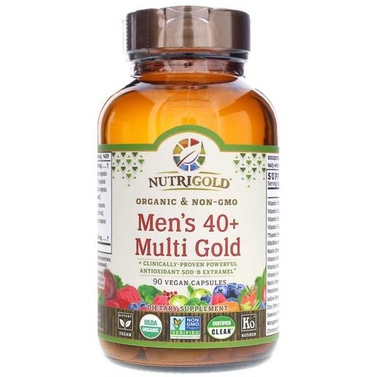 Men's 40+ Multi Gold, 90 Vegan Capsules, NutriGold