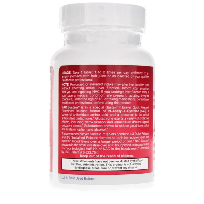 NAC N-Acetyl-L-Cysteine Sustain 600 Mg
