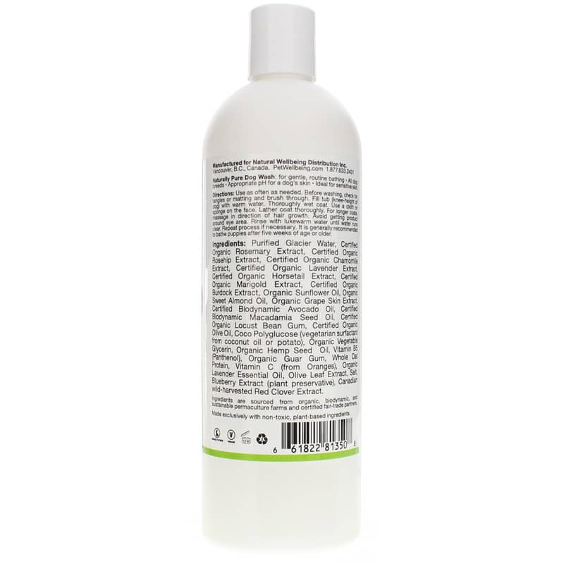 Pet Wellbeing Naturally Pure Dog Wash Lavender Scent