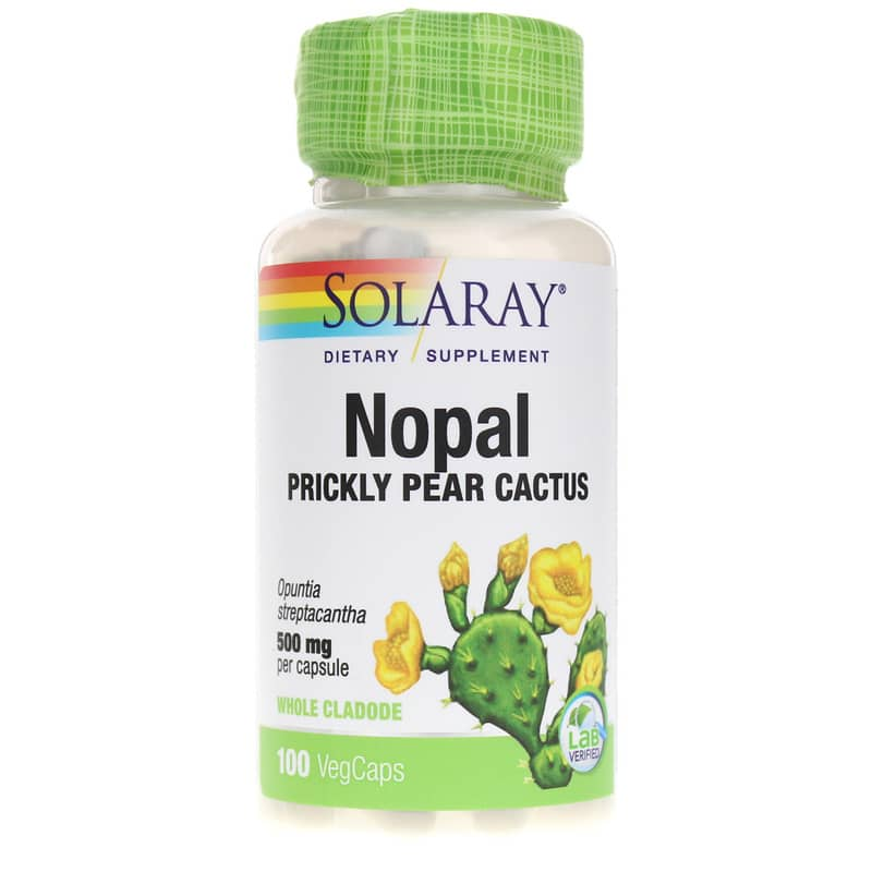 Nopal Prickly Pear Cactus 500mg from Solaray is a dietary supplement that provides antioxidant activity as well as healthy blood sugar and cholesterol ...