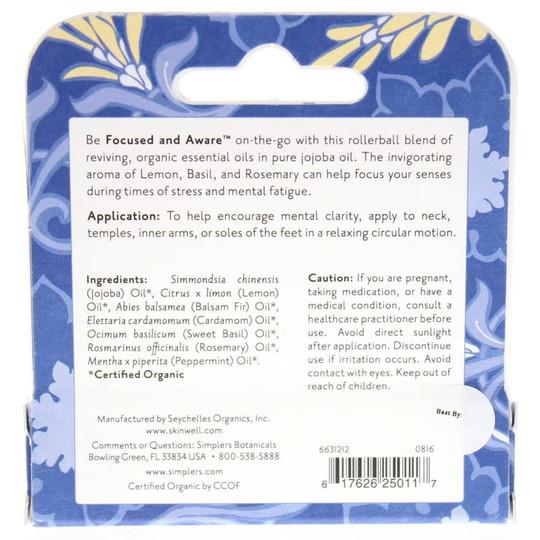 Organic Focused & Aware Roll-On Essential Oil