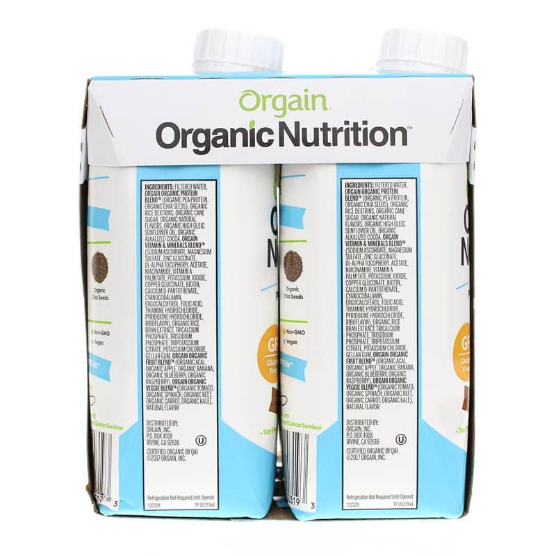 Organic Nutrition Vegan Protein Shake Smooth Chocolate