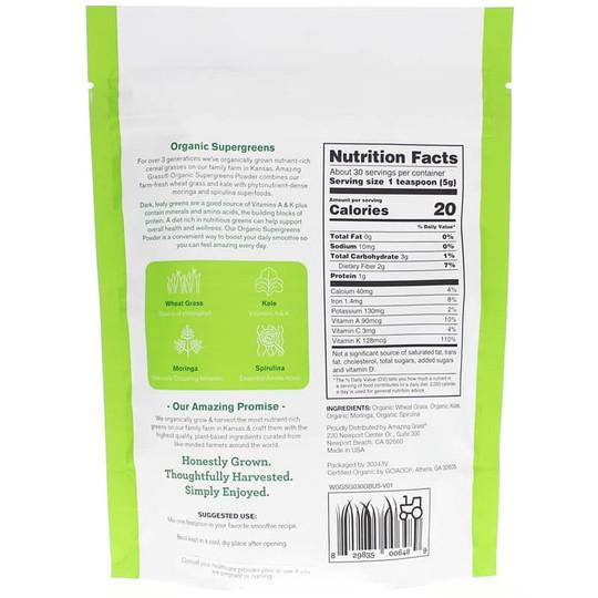 Organic Supergreens Powder