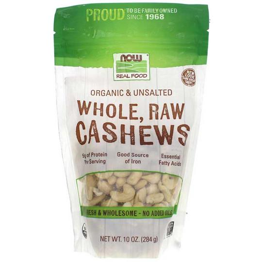 Organic Whole, Raw Cashews Unsalted