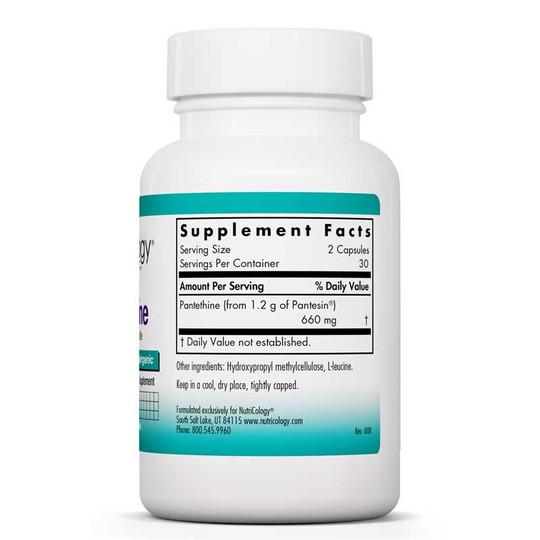 Pantethine, 60 Veg Capsules, Nutricology
