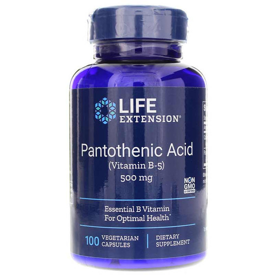Pantothenic Acid (Vitamin B5) 500 Mg