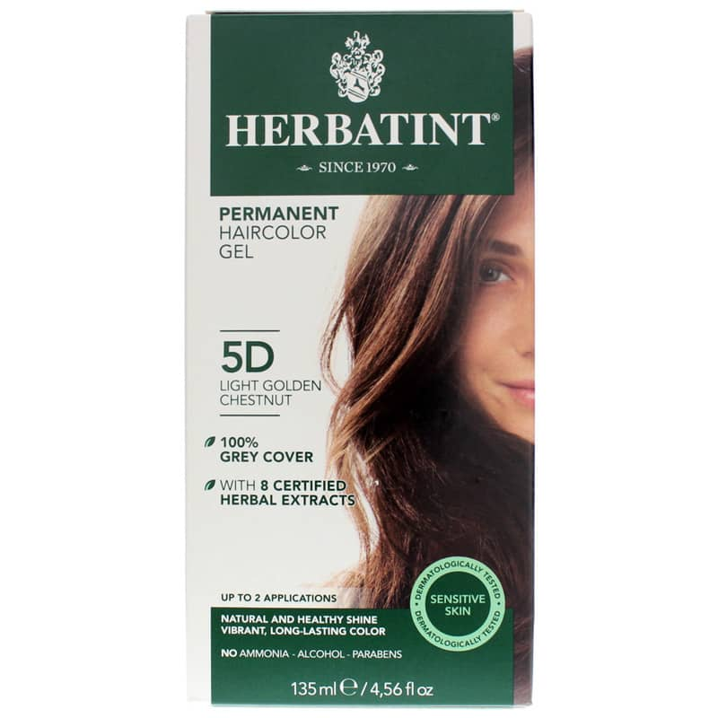 Permanent Hair Color Gel 5D Lt Golden Chestnut