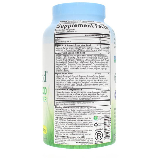 Raw Perfect Food Green Superfood Capsules