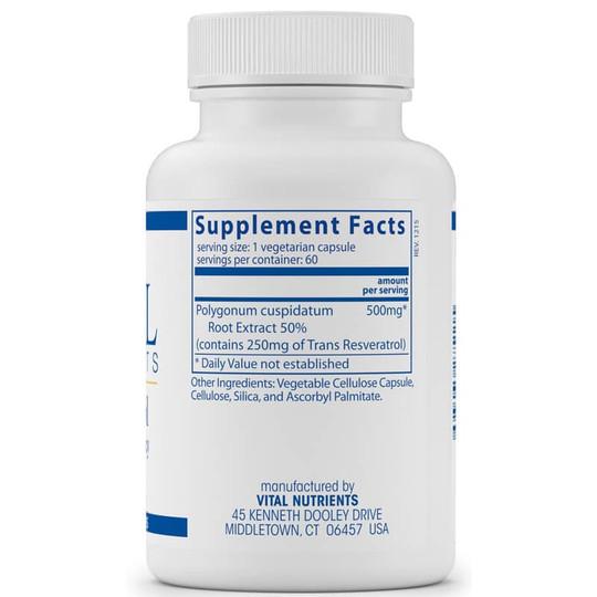 Resveratrol Ultra High Potency 500 Mg Vital Nutrients