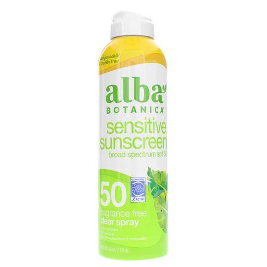 Sensitive Sunscreen Fragrance Free Clear Spray SPF 50