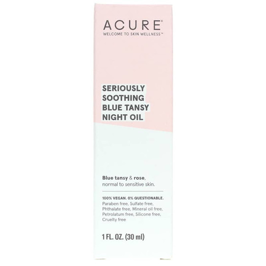 Seriously Soothing Blue Tansy Night Oil, Acure Organics