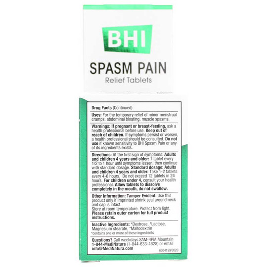 Spasm Pain Relief Tablets