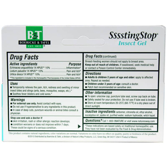 Ssssting Stop Topical Gel