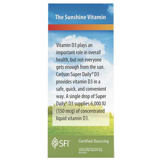 Super Daily D3 6000 IU Vitamin D Liquid