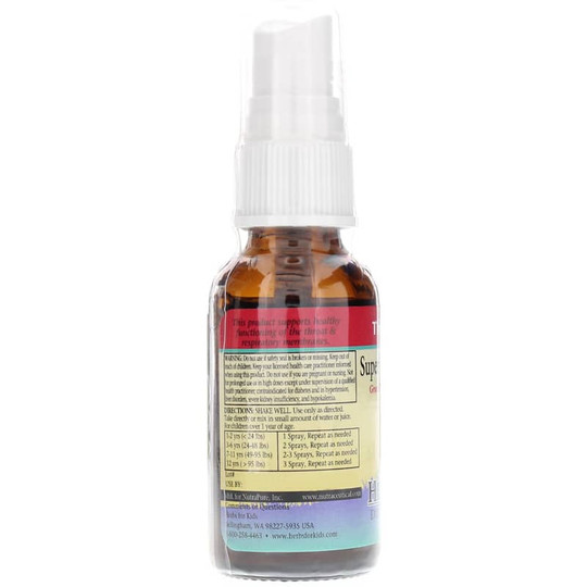 Super Kids Throat Spray in Natural Peppermint Flavor