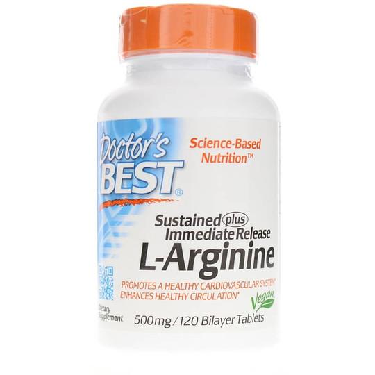Sustained + Immediate Release L-Arginine 500 Mg