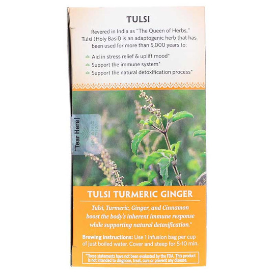 Tulsi Turmeric Ginger Organic Tea