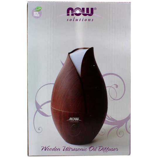 Ultrasonic Faux Wood Oil Diffuser Now Foods